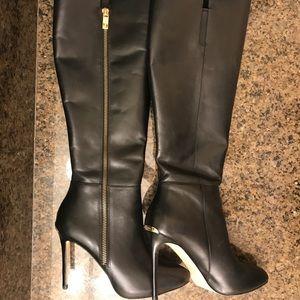 "Sexy Michael Kors Knee High Boots 20"" tall 4"" Heel"